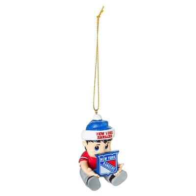 New York Rangers 2 in. NHL New Lil Fan Christmas Ornament