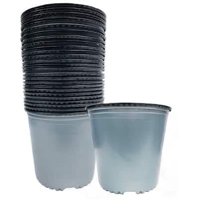 7.72 l/461 cu. in. 2 Gal. Plastic Silver Nursery Pots (24-Pack)
