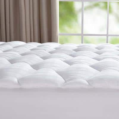 Puredown 15 in. Queen Polyester Mattress Pad
