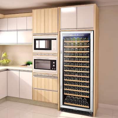 23 in. 149-Bottle Stainless Steel Single Zone Wine Refrigerator