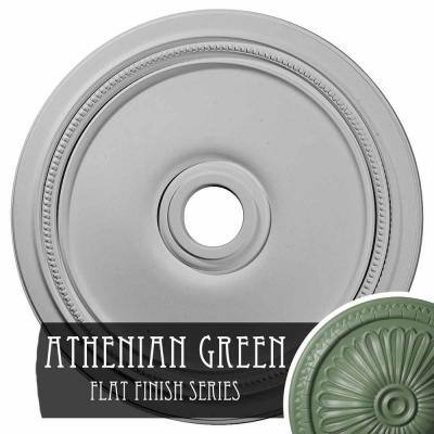 "1-1/4"" x 24"" x 24"" Polyurethane Diane Ceiling, Hand-Painted Athenian Green"