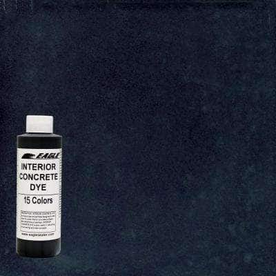 1 gal. Black Orchid Interior Concrete Dye Stain Makes with Water from 8 oz. Concentrate