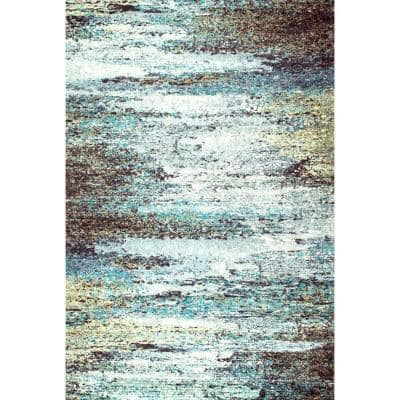 Monet Abstract Multi 5 ft. x 8 ft. Area Rug