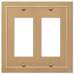 Bethany 2 Gang Rocker Metal Wall Plate - Brushed Bronze