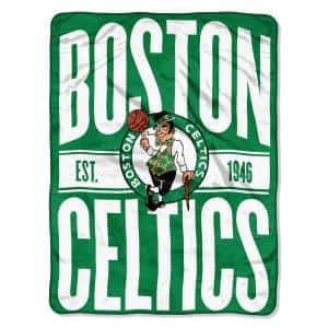 Clear Out Boston Celtics Polyester Twin Knitted Blanket