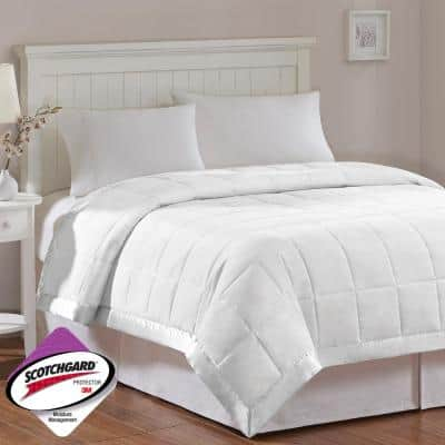 Prospect All Season White Hypoallergenic Down Alternative Twin Quilted Blanket