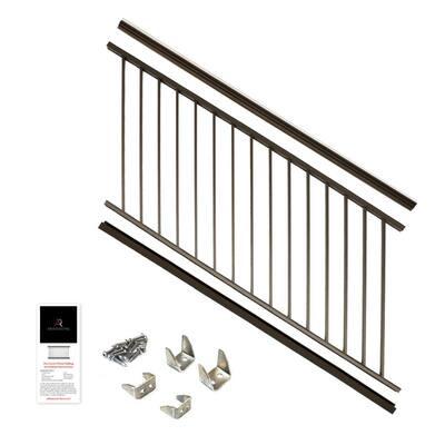 36 in. x 6 ft. Bronze Powder Coated Aluminum Preassembled Deck Stair Railing