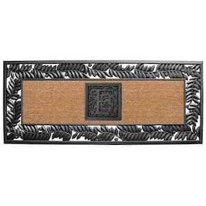 24 in. x 57 in. Sentinel Olive Rubber Coir Monogrammed F Door Mat