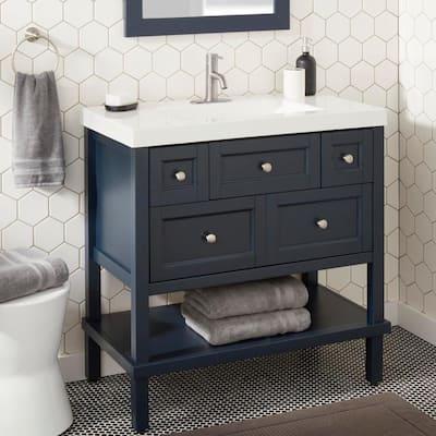 Modern Single Hole Single-Handle Low-Arc Bathroom Faucet in Brushed Nickel