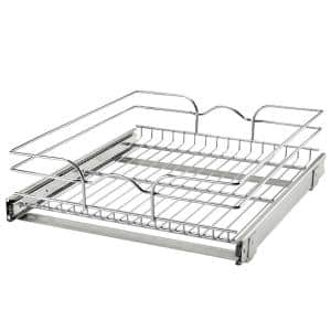 18 in. x 20 in. Single Kitchen Cabinet Pull Out Wire Basket