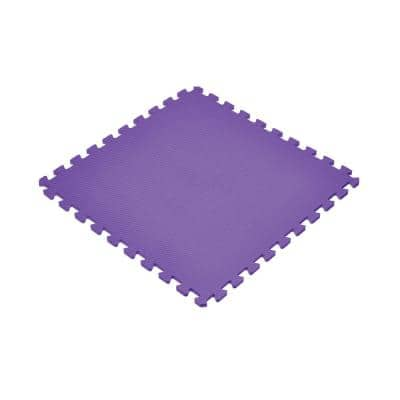 Purple 24 in. x 24 in. EVA Foam Non-Toxic Solid Color Interlocking Tiles (192 sq. ft. - 48 tiles)