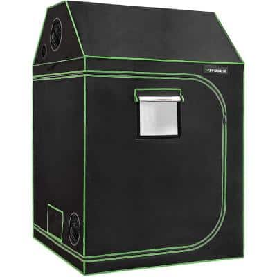 5 ft. L x 5 ft. L Roof Cube Indoor Grow Tent with Observation Window and Floor Tray