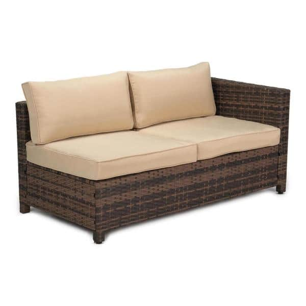 Edyo Living 3 Piece Wicker Patio, For Living 3 Piece Wicker Patio Sectional Set With Cushions