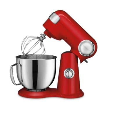 Precision Master 5.5 Qt. 12-Speed Die Cast Stand Mixer in Red