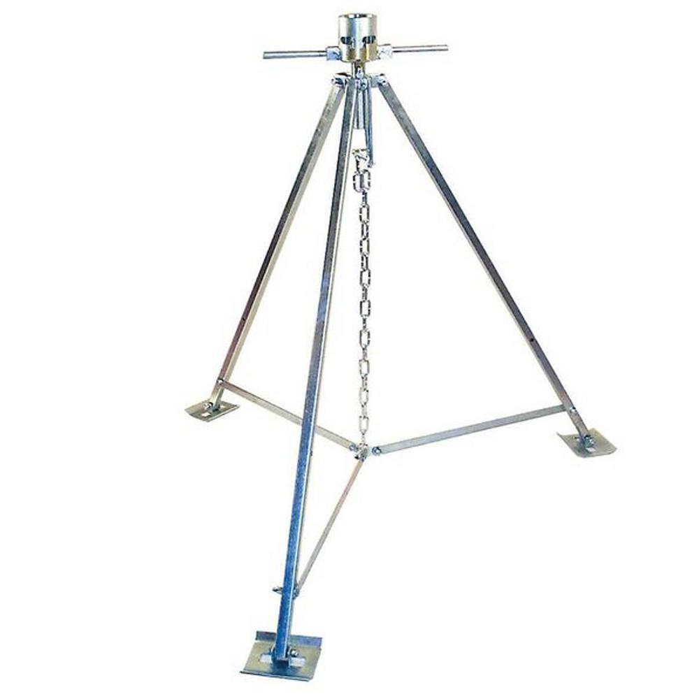 5000 lbs. Capacity RV Standard King Pin Tripod Stabilizer Jack in Zinc/Black
