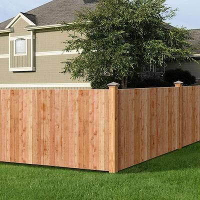 5/8 in. x 3-1/2 in. x 3-1/2 ft. Western Red Cedar Flat Top Fence Picket (27-Pack)
