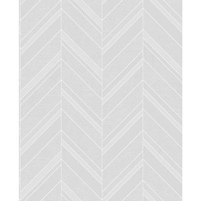 Punta Mita Grey Chevron Grey Wallpaper Sample