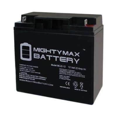 12-Volt 22 Ah Sealed Lead Acid (SLA) Rechargeable Battery