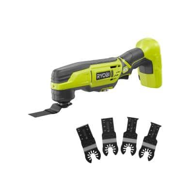 ONE+ 18V Cordless Multi-Tool (Tool Only) with 4-Piece Wood and Metal Oscillating Multi-Tool Blade Set