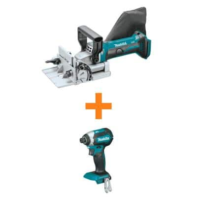 18V LXT Lithium-Ion Cordless Plate Joiner (Tool Only) with bonus 18V LXT Lithium-Ion Brushless Cordless Impact Driver