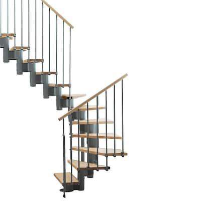"""Kompact 35 in. Grey Modular Staircase """"U"""" Kit"""