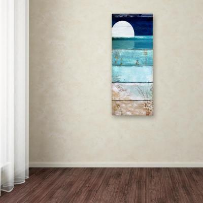 """47 in. x 20 in. """"Beach Moonrise I"""" by Color Bakery Printed Canvas Wall Art"""