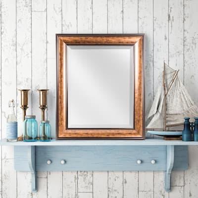 Medium Rectangle Bronze Modern Mirror (25.5 in. H x 21.5 in. W)