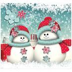 7 ft. x 8 ft. Snowman Christmas-Outdoor Holiday 2-Car Split Garage Door Decor Mural for Split Car Garage, 2-Graphic Kit