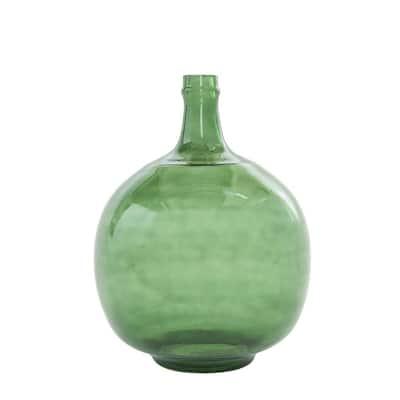 Transparent Green Decorative Glass Bottle
