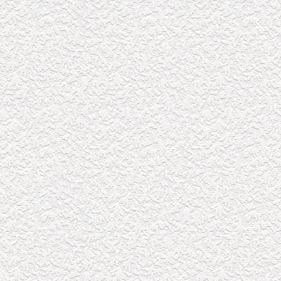 Embossed Stucco Texture White Abstract Vinyl Pre-Pasted Paintable Wallpaper Roll (Covers 56 Sq. Ft.)