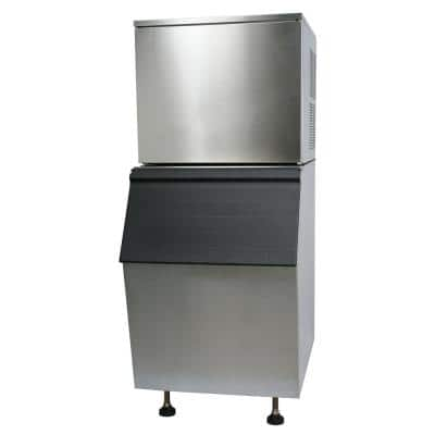 275 lbs. Freestanding Ice Maker in Stainless Steel