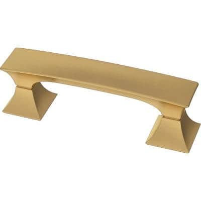 Modern Luxe 3 in. (76 mm) Brushed Brass Drawer Pull