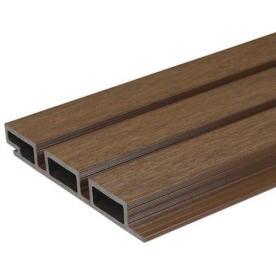 European Siding System 7.7 in. x 96 in. Composite Belgian Board Siding in Brazilian Ipe (10-Piece)