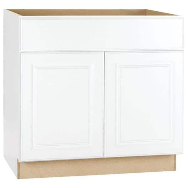 Hampton Bay Satin White Raised, 36 Inch Cabinet