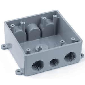 2-Gang Weatherproof T-Box Gray (Case of 6)