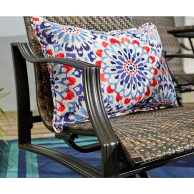 Statesville Swivel Steel Woven Outdoor Patio Dining Chair (2-Pack)