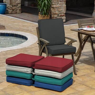 ProFoam 20 in. x 20 in. Slate Acrylic Outdoor High Back Chair Cushion