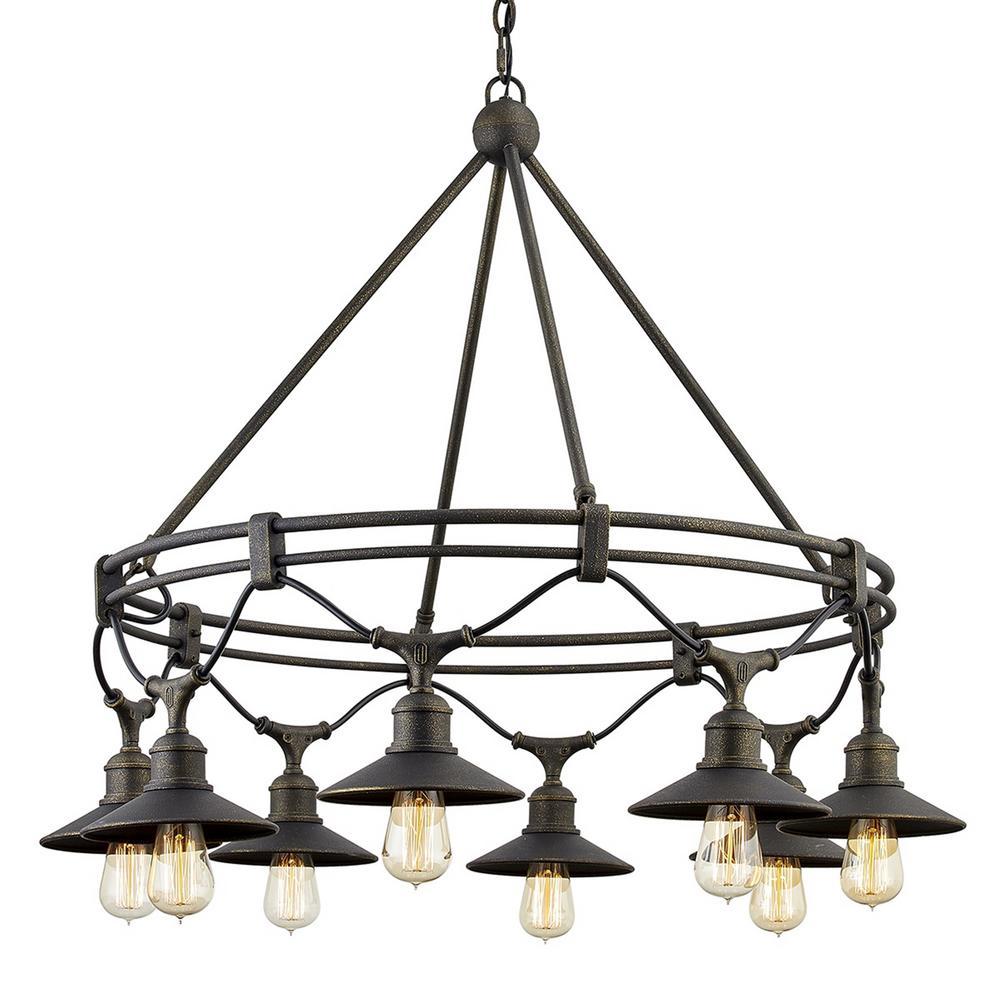Shelton 8-Light Vintage Bronze Chandelier