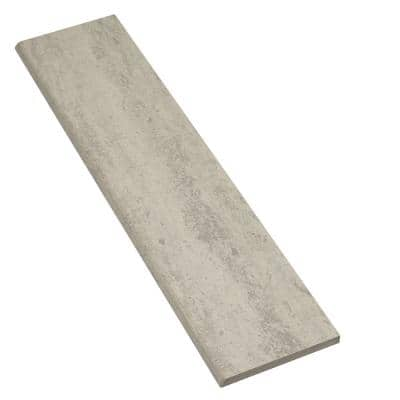 Stonehollow Mist 3 in. x 12 in. Glazed Porcelain Bullnose Trim Tile (0.25 sq. ft./Piece)