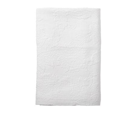 Putnam Matelasse White Cotton Twin Bedspread