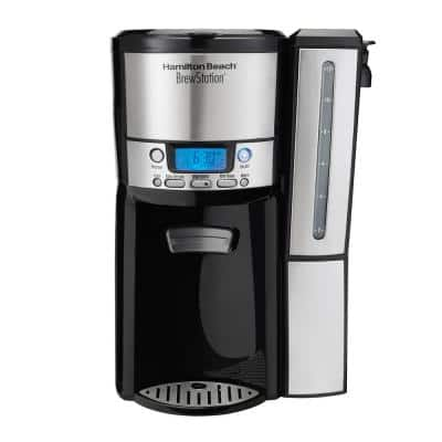 BrewStation 12-Cup Programmable Stainless Steel Drip Coffee Maker with Removable Water Reservoir