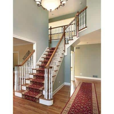 Kurdamir Rockland Crimson 26 in. x Your Choice Length Stair Runner