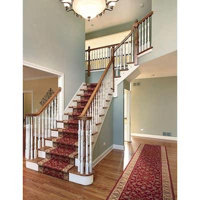 Kurdamir Rockland Crimson 33 in. x Your Choice Length Stair Runner