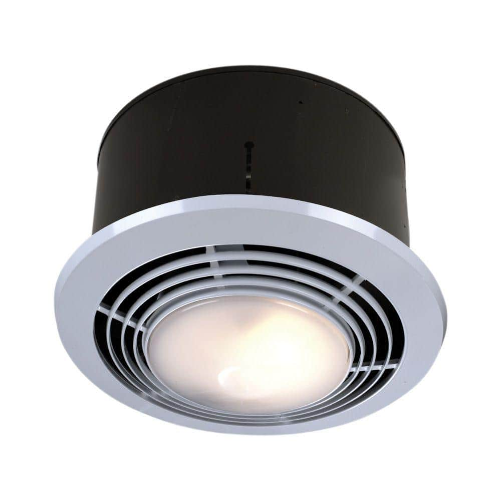 Broan Nutone 70 Cfm Ceiling Bathroom Exhaust Fan With Light And Heater 9093wh The Home Depot
