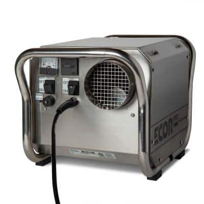 150 Pint Portable Commercial Stainless Steel Desiccant Dehumidifier for Basement, CrawlSpace, Whole House and Warehouses