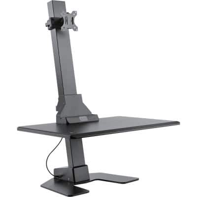 Premium Series Black Electric Sit-Stand Workstation, Single Monitor