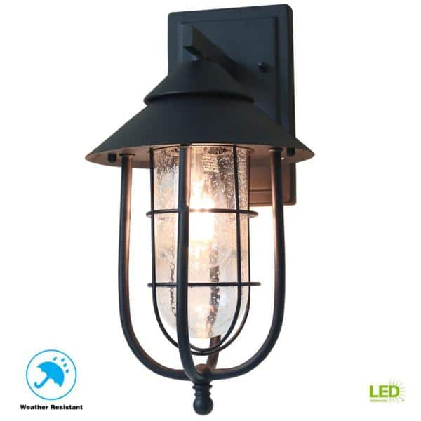 Home Decorators Collection Wisteria, Home Depot Outdoor Wall Lighting Black