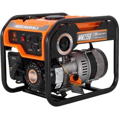 1,500-Watt/1,200-Watt Recoil Start Gasoline Portable Power Generator 94 cc 4 Stroke OHV Engine