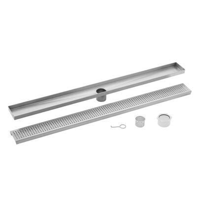 48 in. Stainless Steel Tile Insert Linear Shower Drain