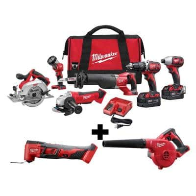M18 18-Volt Lithium-Ion Cordless Combo Tool Kit (4-Tool) with M18 Oscillating Multi-Tool and Blower